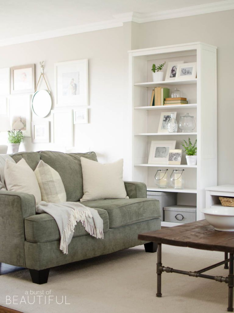 37  With Sage Green. 40 Rustic Living Room Ideas To Fashion Your Revamp Around