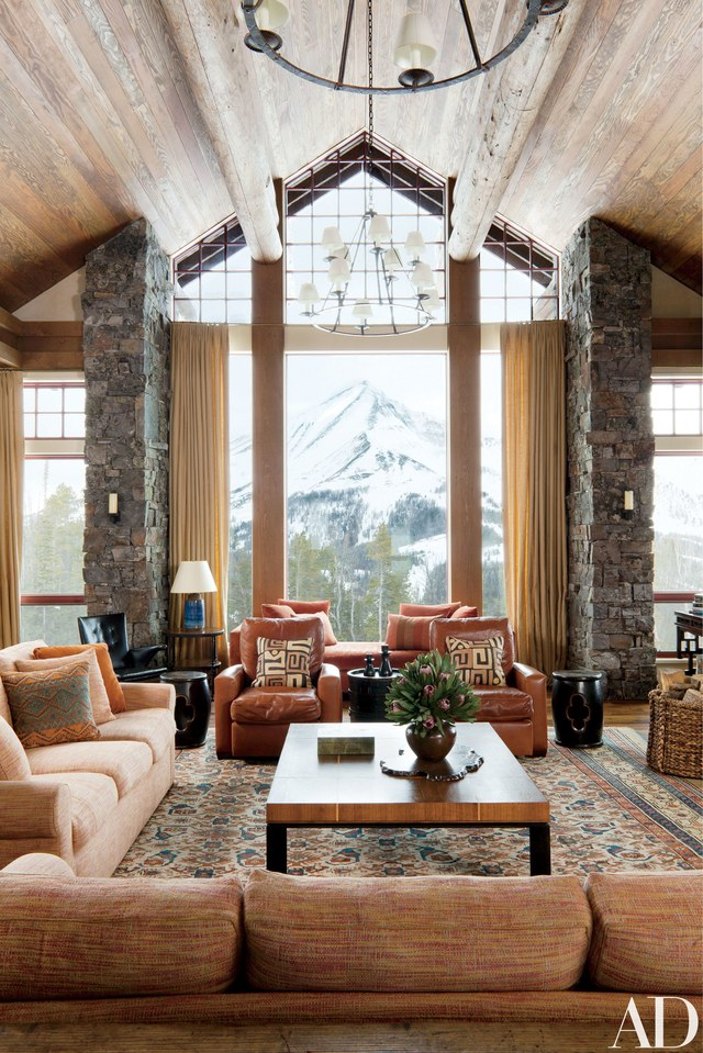 View In Gallery. This Rustic Living Room ...