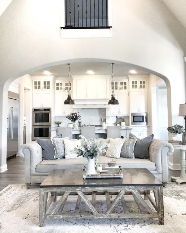 34  With Hazey Grays. 40 Rustic Living Room Ideas To Fashion Your Revamp Around
