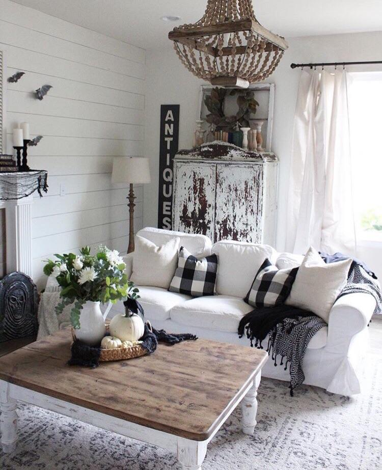 13  With Distressing. 40 Rustic Living Room Ideas To Fashion Your Revamp Around