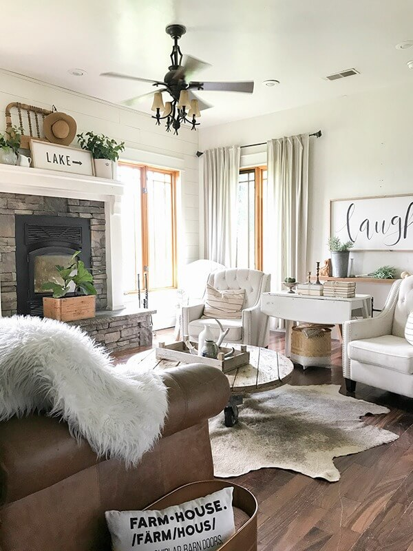 farmhouse decor farmhouse style living room decor split modern apartment decorating ideas With A Farmhouse Mix