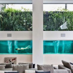 Amazing house with a cool swimming pool - living room view