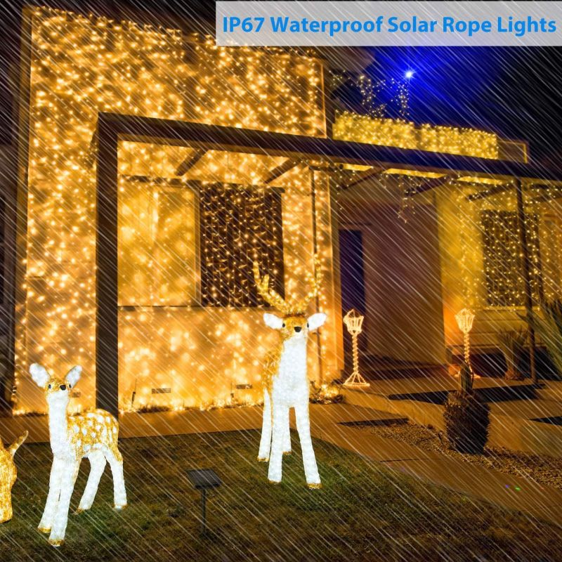 Solar Curtain String Lights Outdoor