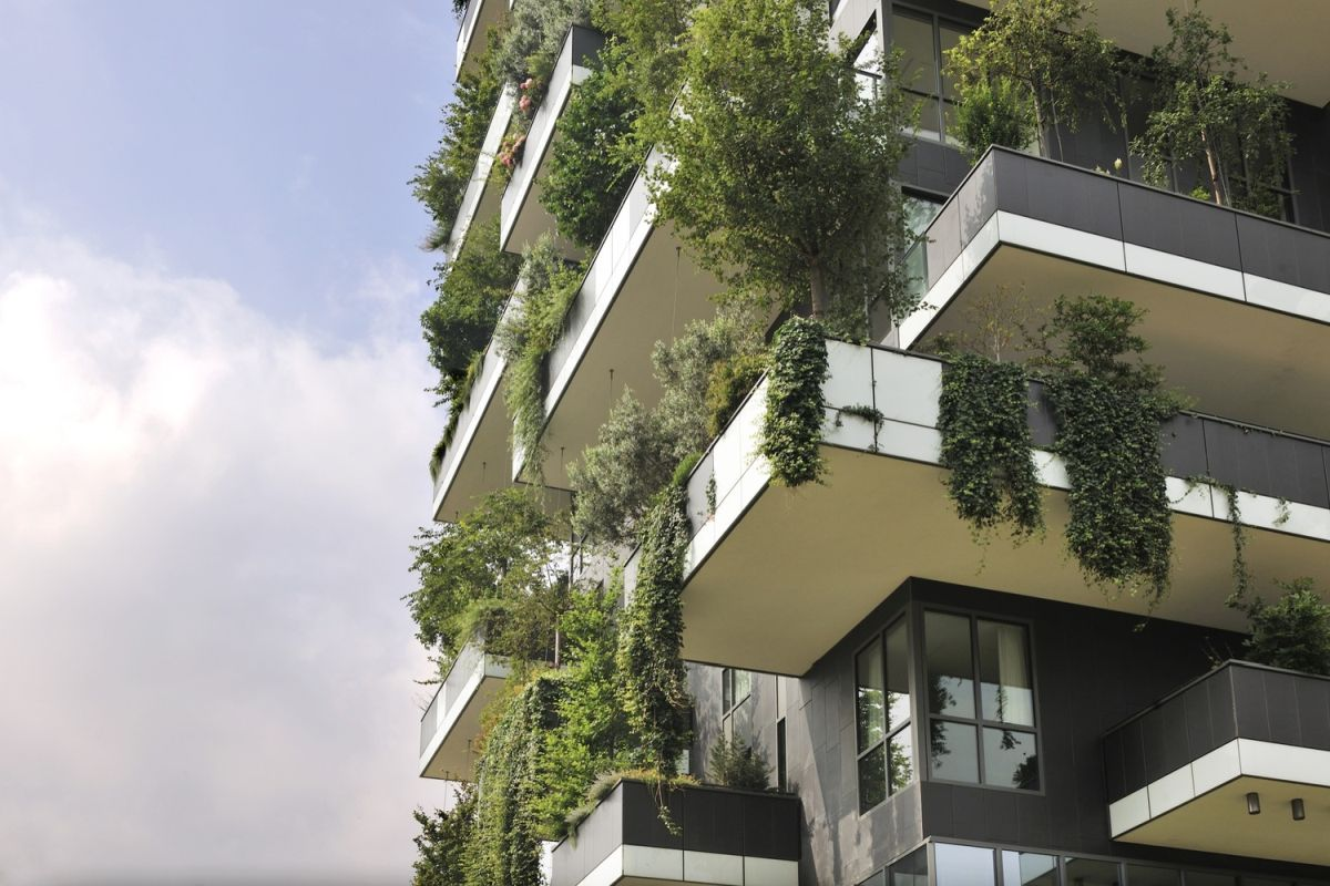 The vertical forests which cover the facades of the towers are not just eye-catching. They produce humidity and oxygen