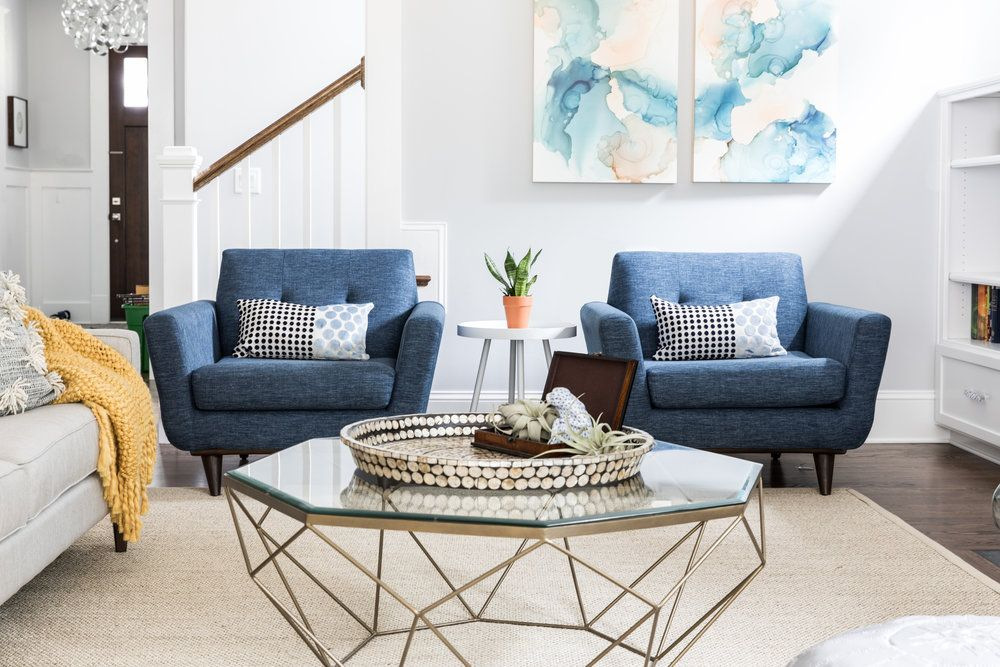 35 Blue Living Rooms Made For Relaxing