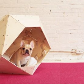 Geometric Dog House DIY