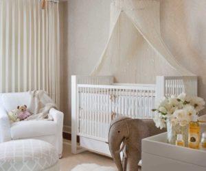 Girl nursery minimal wallpaper