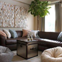 Living room Fiddle Leaf Fig tree plant