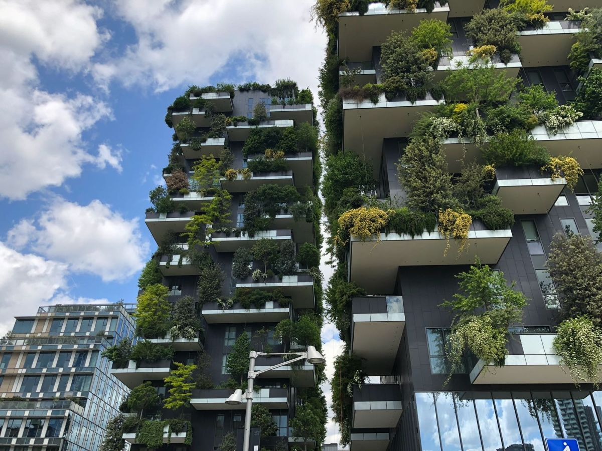 The vertical gardens change their look and coloring over the seasons and this also changes the cityscape