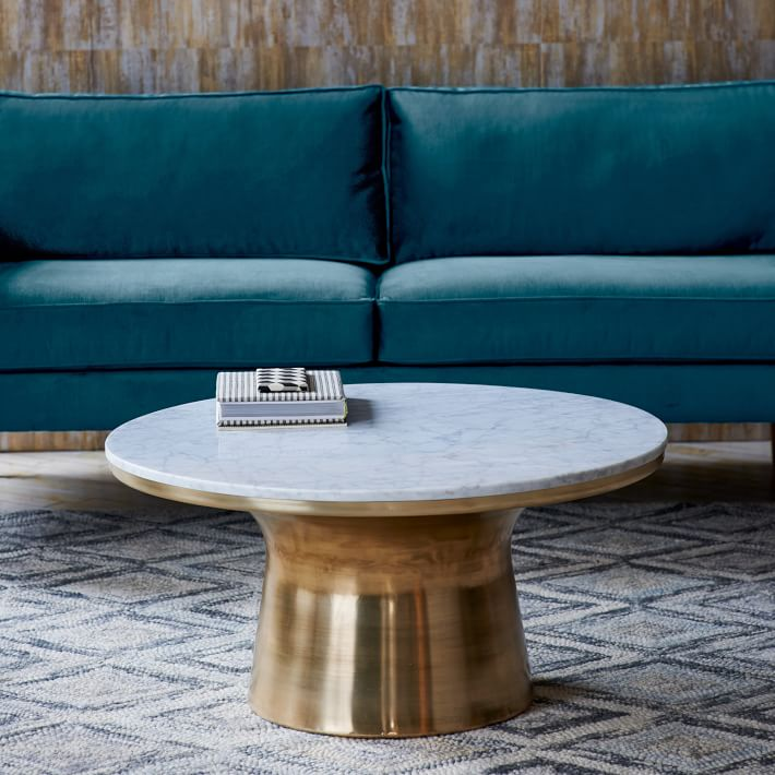 Marble Top Brass Coffee Table.The Refined And Sophisticated Side Of The Brass Coffee Table