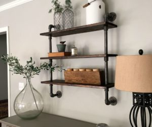 How To Build DIY Pipe Shelves For Your Home From Scratch