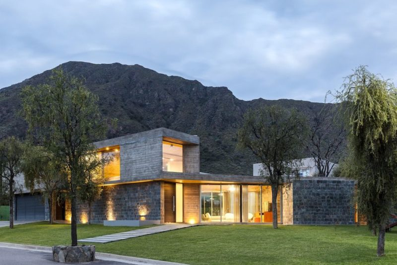 A Family Home At The Foot Of A Mountain In Argentina