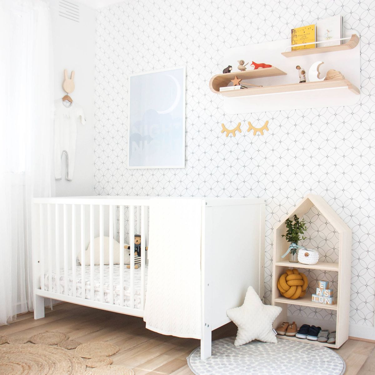 Scandinavian nursery wallpaper