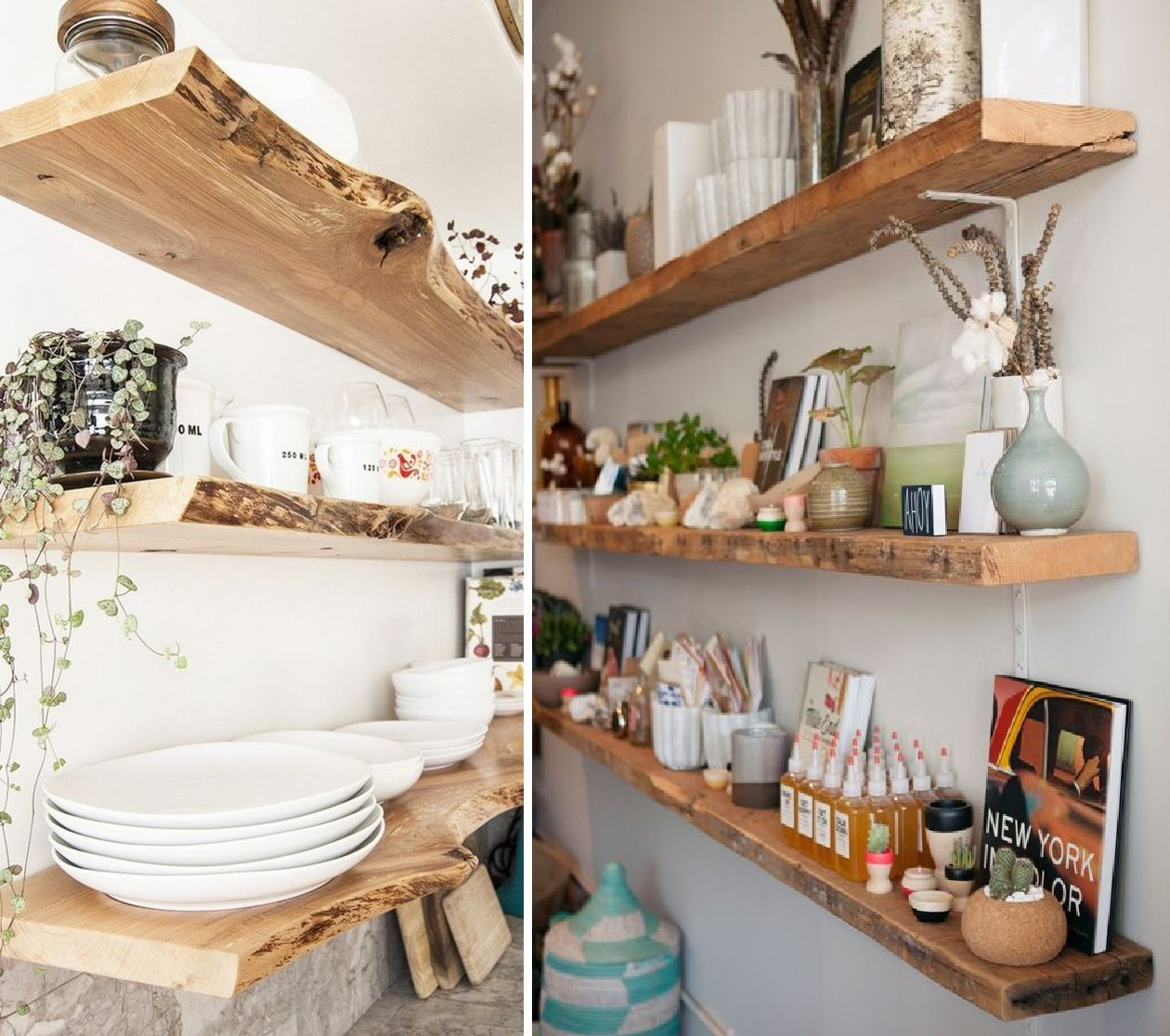 How To Use Reclaimed Wood Floating Shelves Prettify Your Home