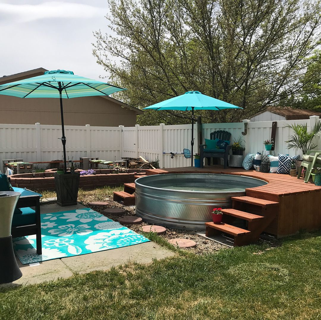 how to make your own stock tank pool this summer. Black Bedroom Furniture Sets. Home Design Ideas