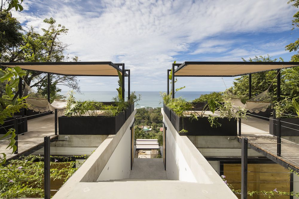 Each guest room features a terrace at the front and a garden at the back and this gives it great views and plenty of privacy