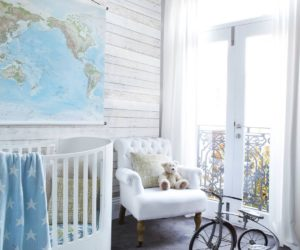 Travel nursery wallpaper
