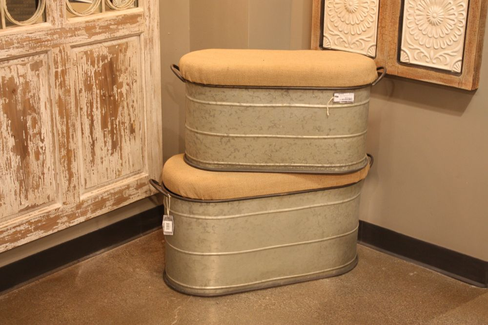 Tub stools from VIP Garden & Home are a good example of repurpoisong.