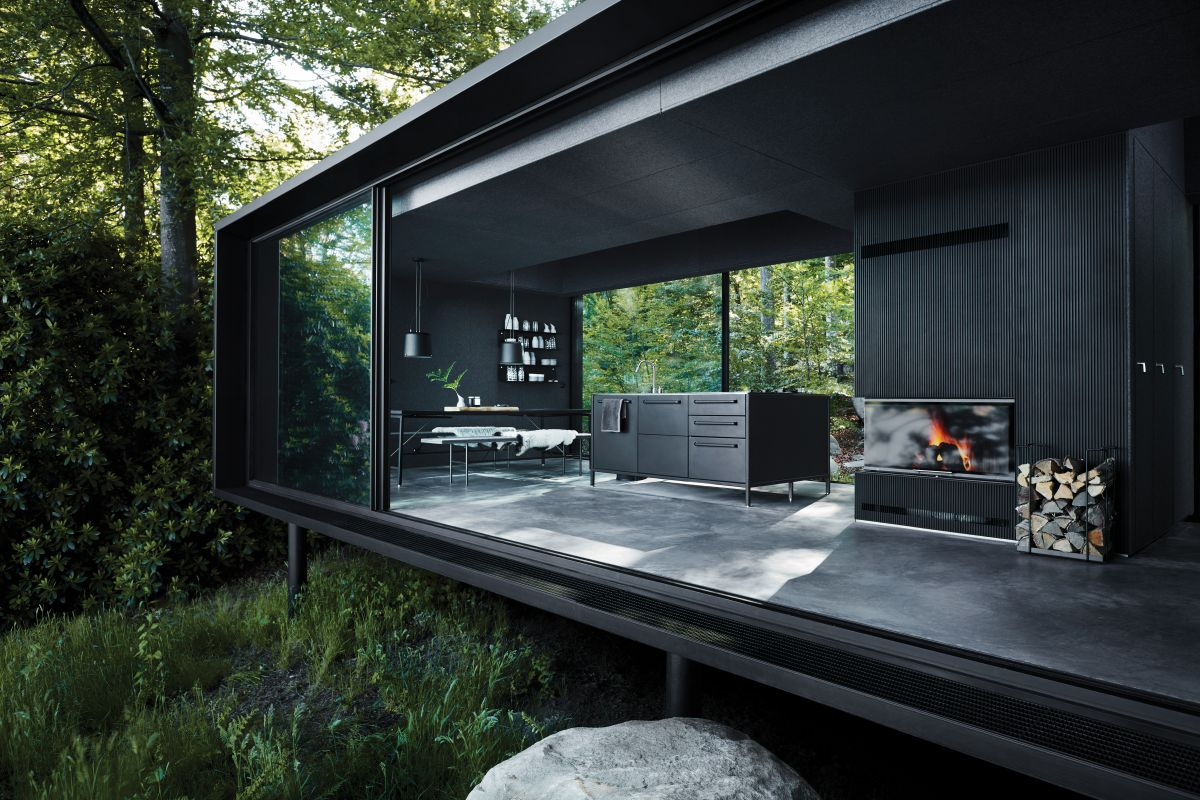 The Vipp Shelter is a prefab cabin which can be transported just about anywhere and installed in only a couple of days