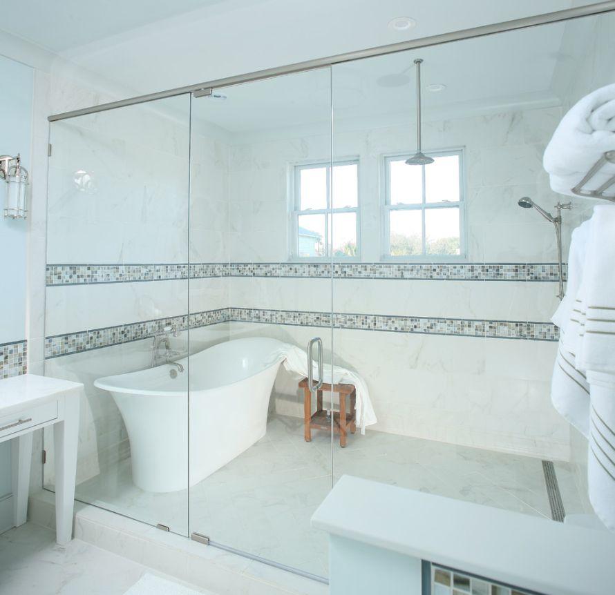 Narrow Master Bathroom And Closet Layout