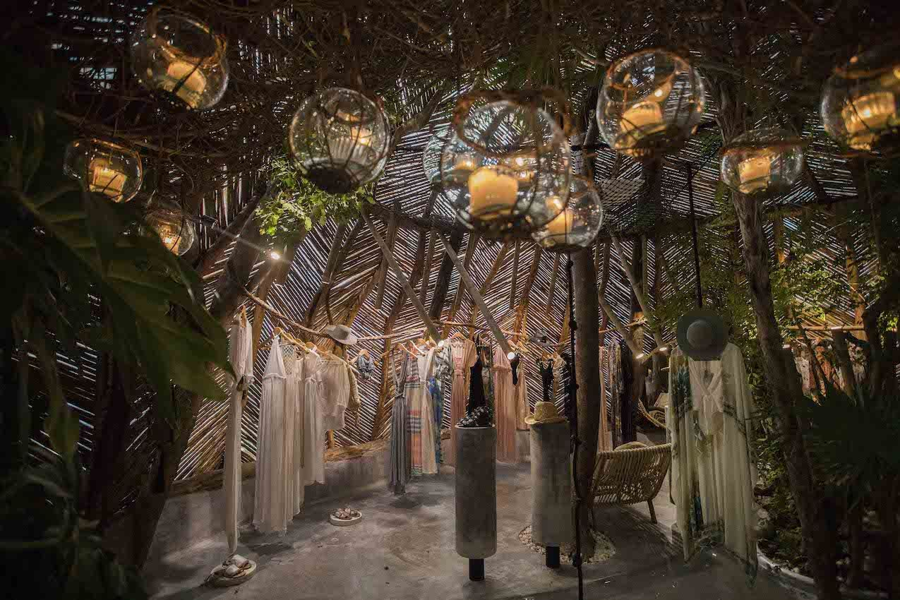 The warmly lit boutique features creations by local artists.