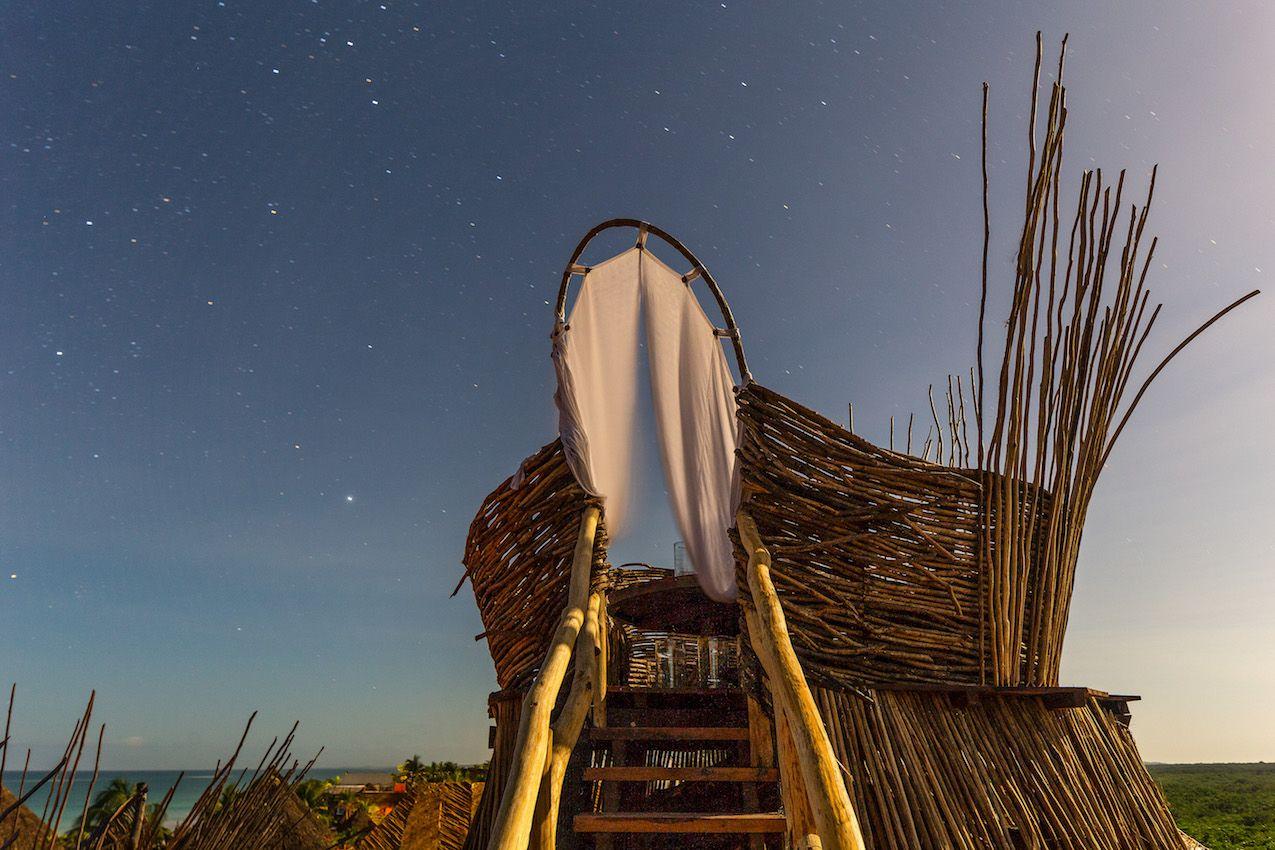 Enjoying the open air is a big benefit at Azulik.