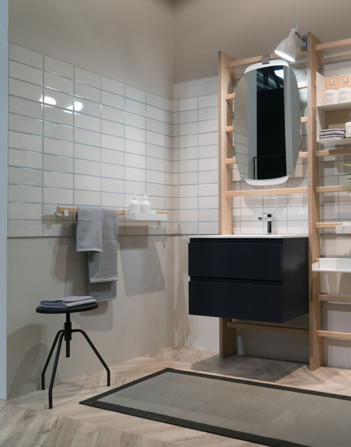 This array of individual and modular accessories makes it possible for each bathroom to be different and special