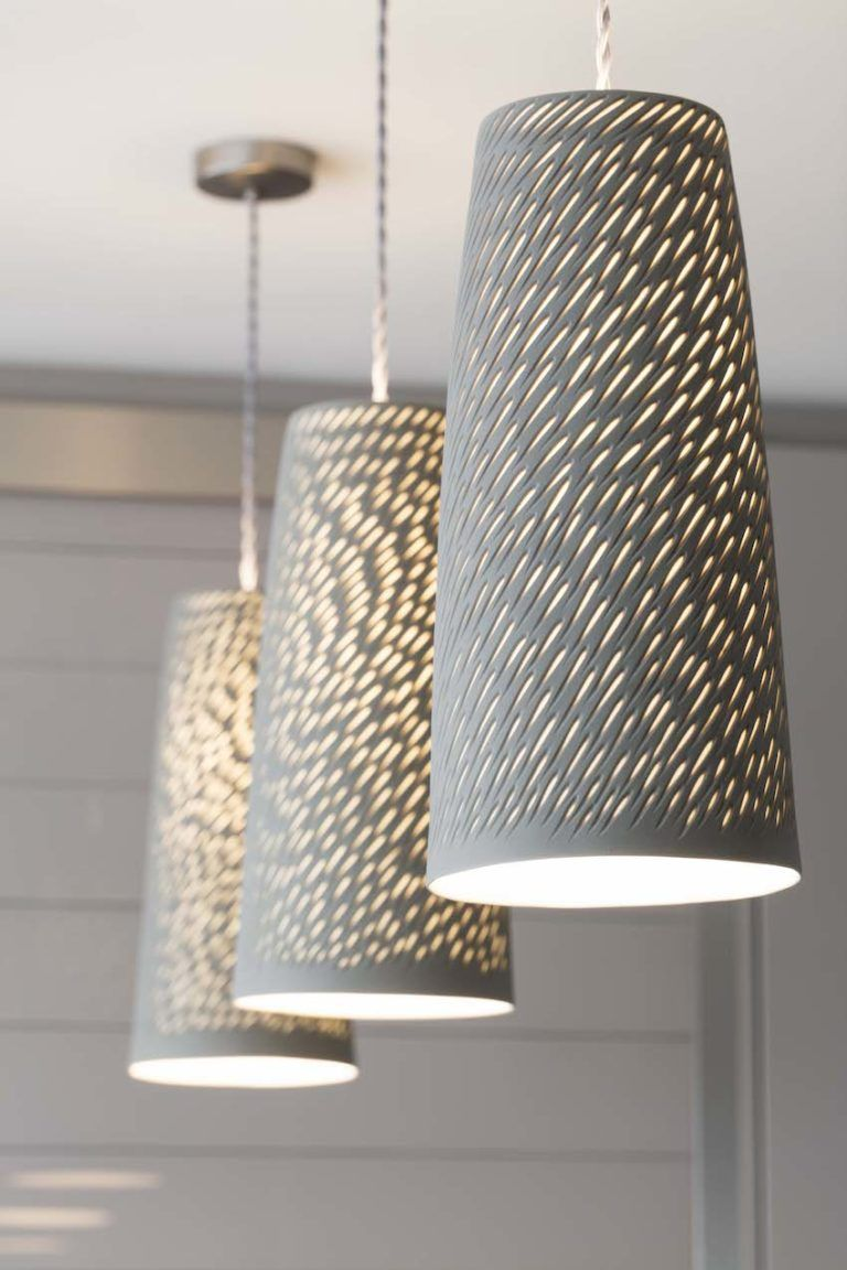 Porcelain pendant lights are as much art as they are lighting.