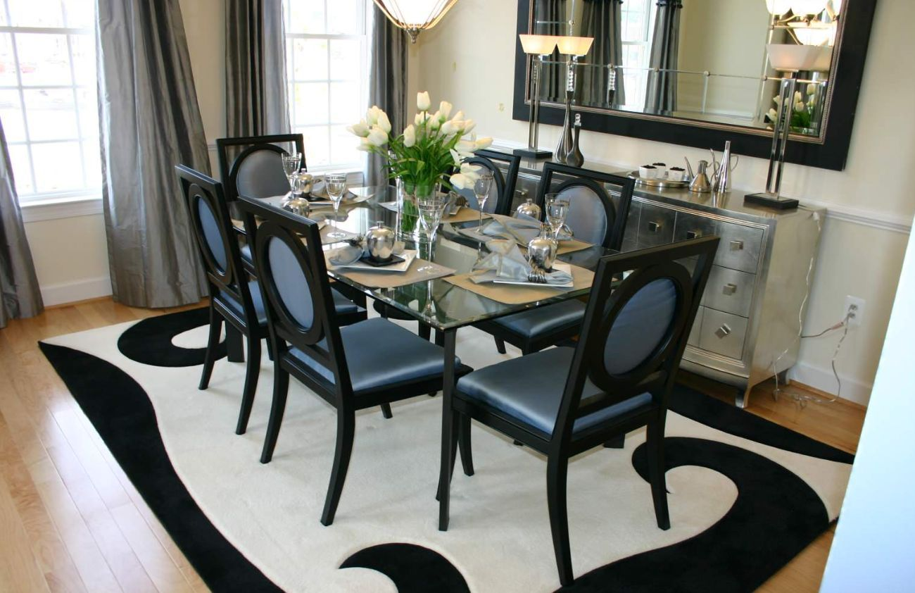 This dining room features many essential elements of this style.