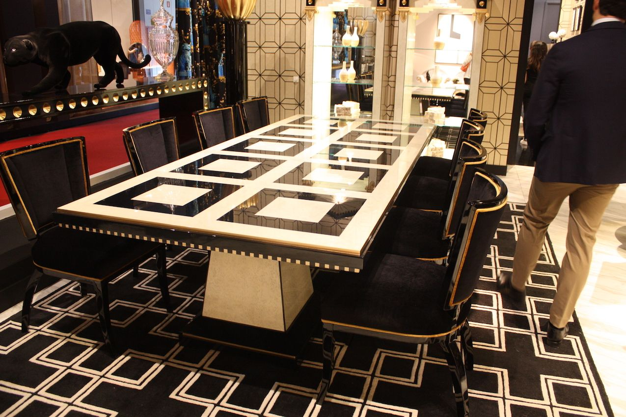 Either individually or in combination, black and white motifs are classic choices.