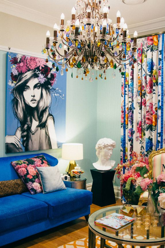 A white bust is appropriate even in a bright, eclectic interior like this interior in Perth, Australia.