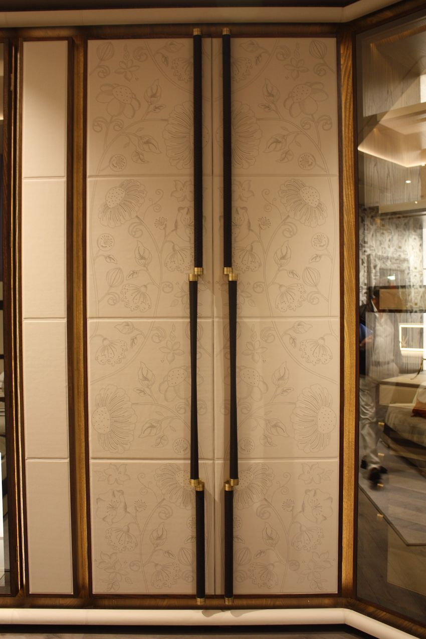 Tall and imposing, this closet would be ideal in an Art Deco bedroom.