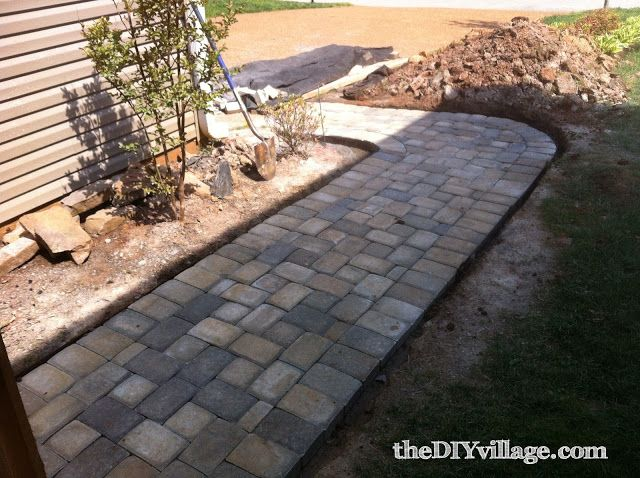 install a paver pathway