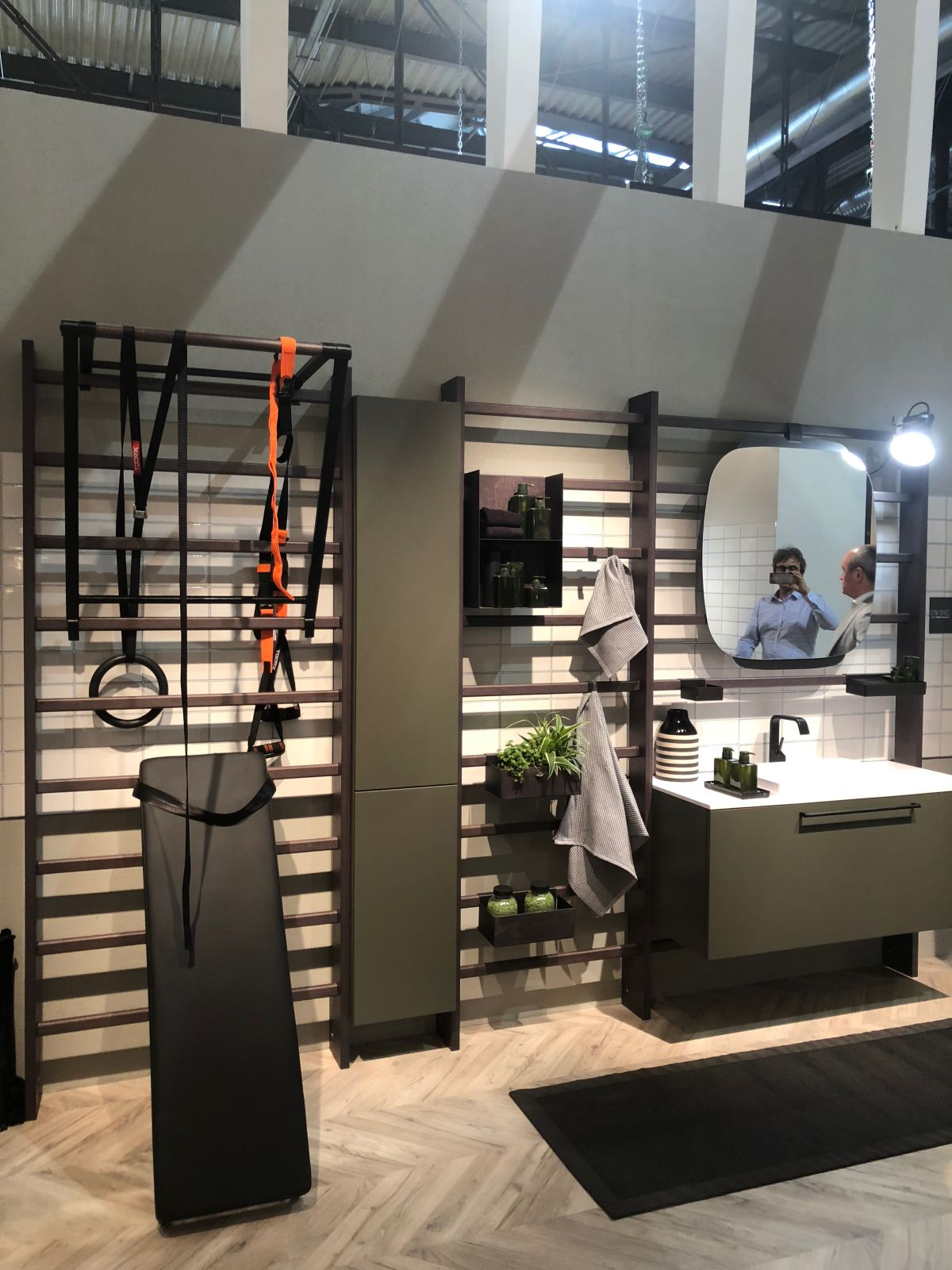 A new gym bathroom from scavolini inspires people to become more active