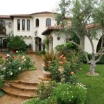 Spanish history house with rock garden