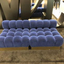 Tufted indigo seating