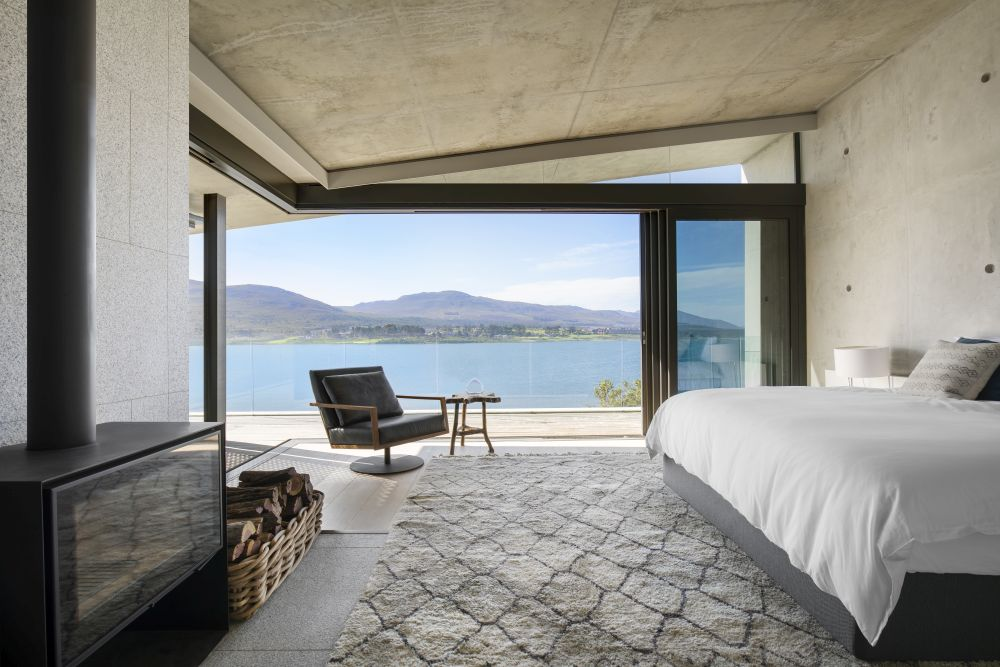The private spaces are housed inside the two wings and offer some of the most spectacular views