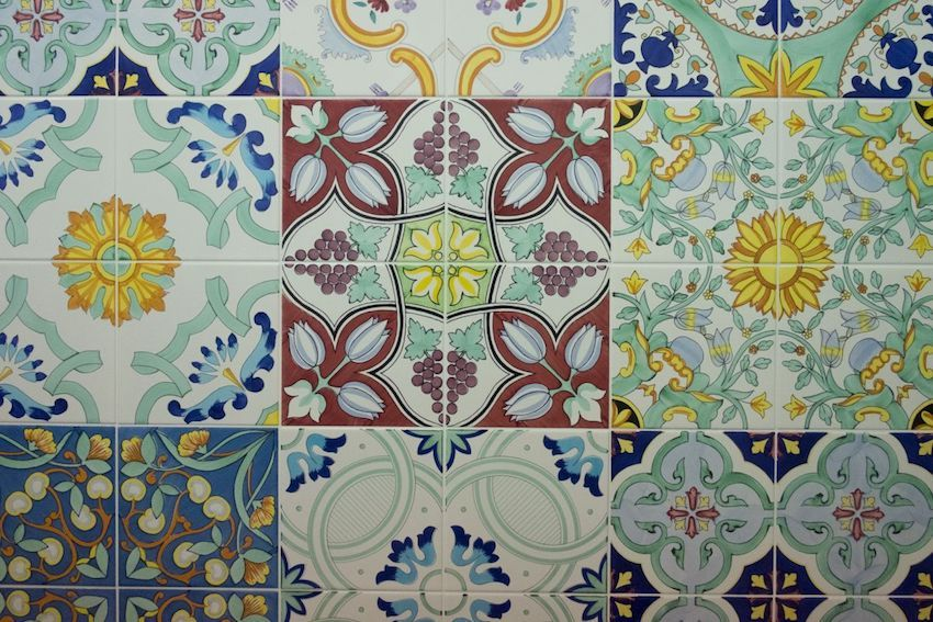 Traditional patterns are common on ceramic tiles.