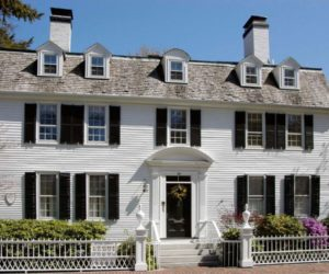 Colonial Home Style With White Facade