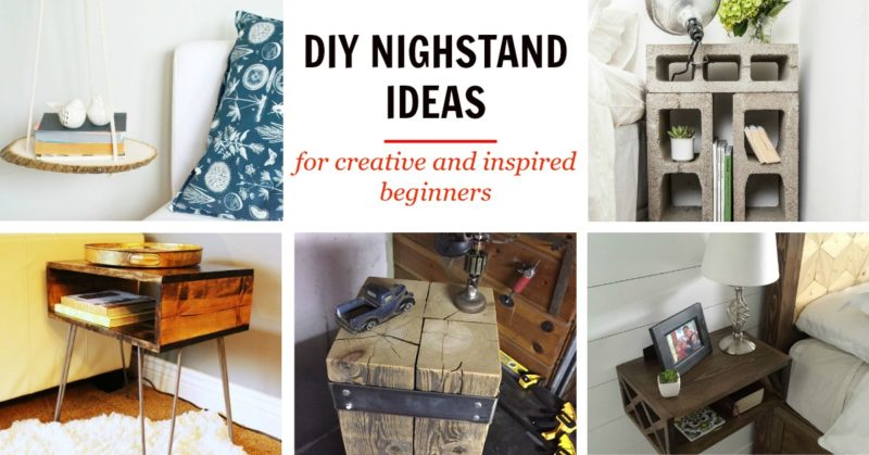 DIY Nightstand Concept For Creative And Inspired Beginners