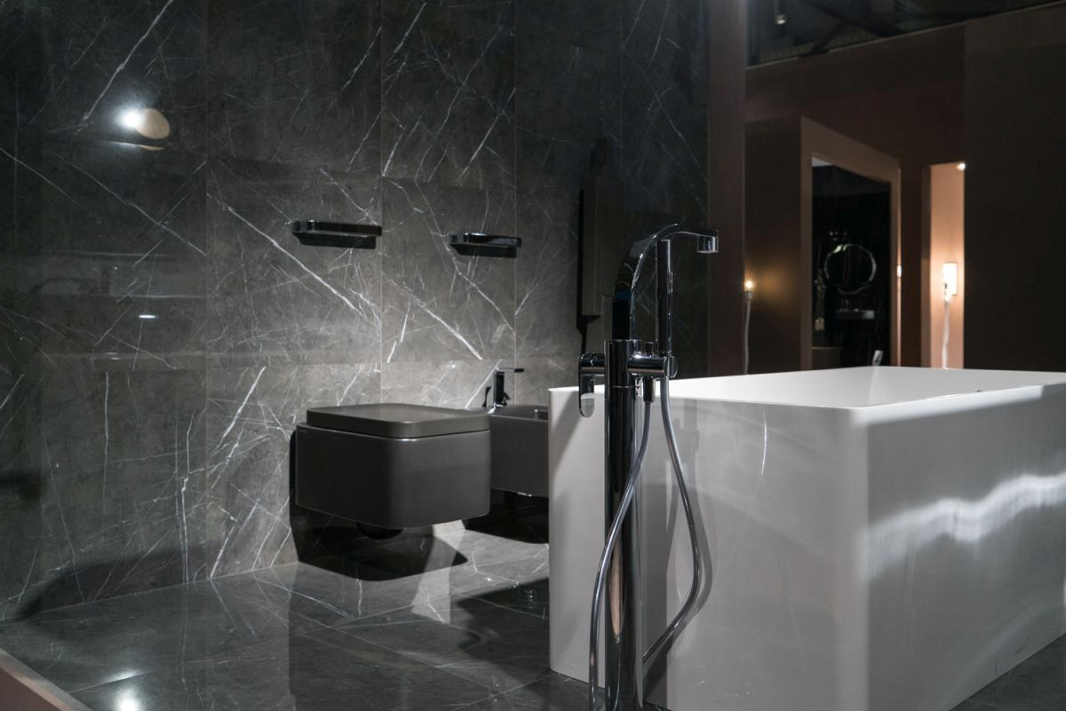 Technology has allowed for new styles of porcelain tile that look like marble.