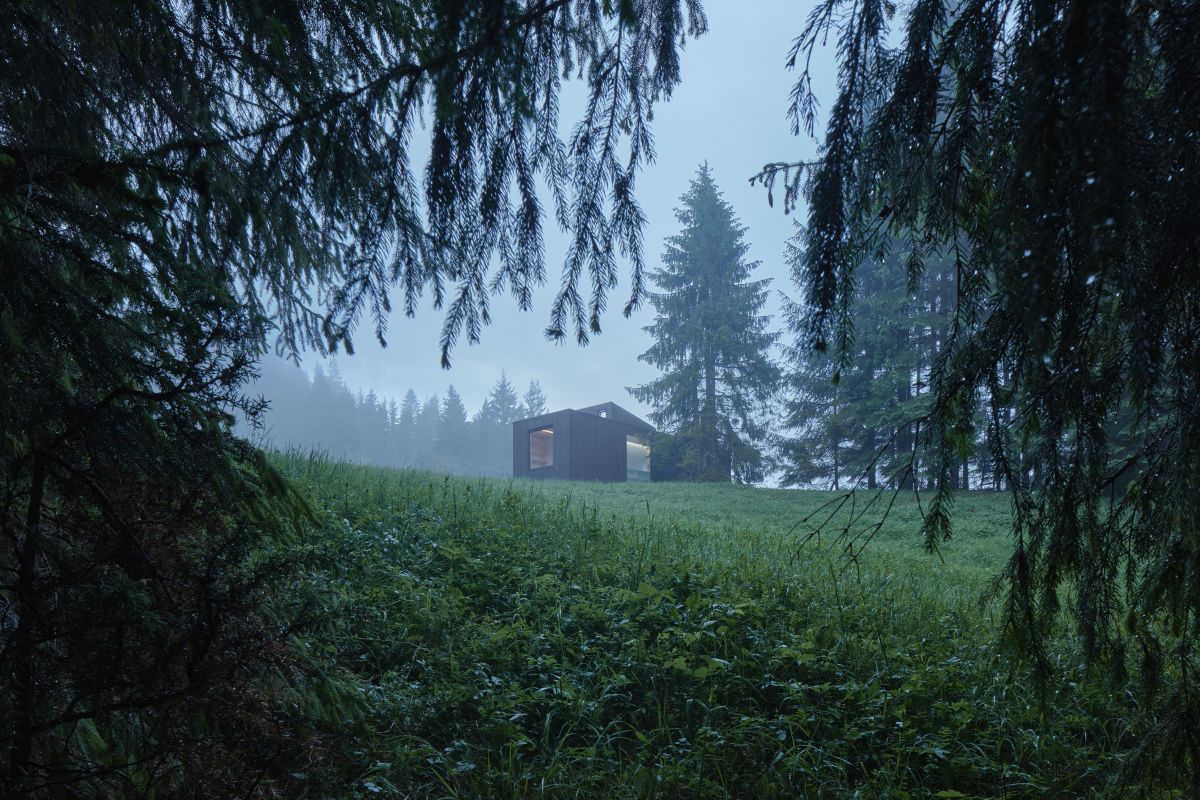 This amazing cabin can function completely off-grid which means you can put just about anywhere