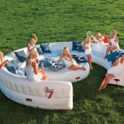 Large inflatable outdoor sofa