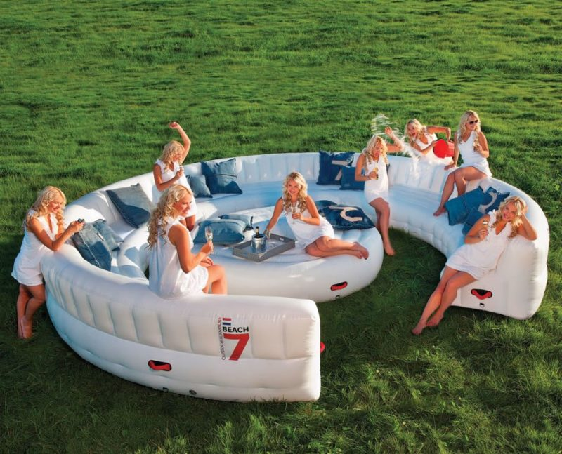Get A Jump On The Inflatable Couch Trend For An Awesome Summer