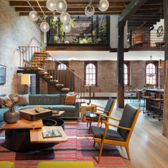 Old Warehouse Turned Into A Loft Bedroon