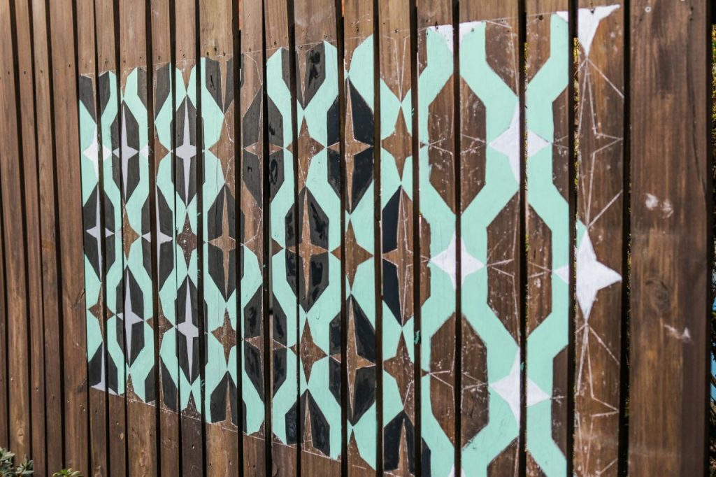 diy fence Painted Mural Fence