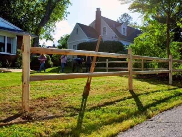 diy fence Simple Split Rail Fence