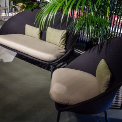 Twins outdoor lounge seating by Mut Design