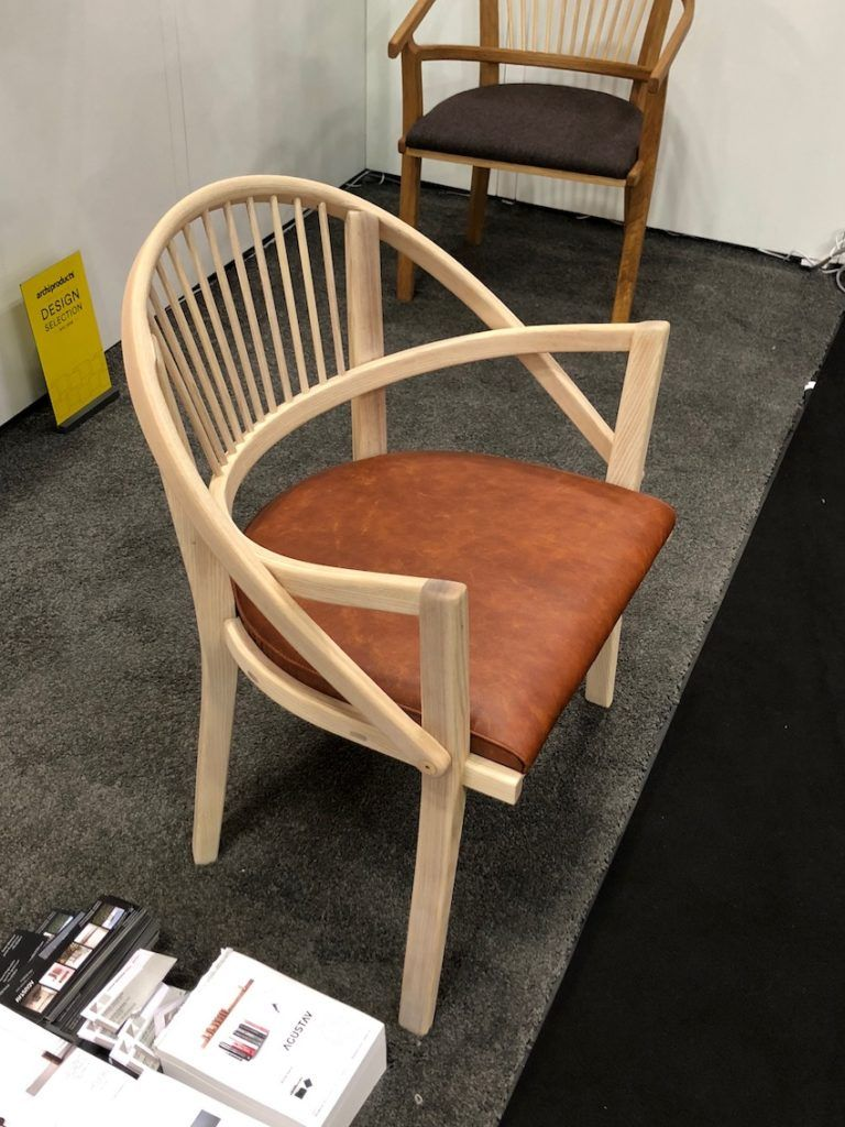 Traditional Scandinavian Joinery Techniques Using Custom Ash Pins Are Used  In This Chair.