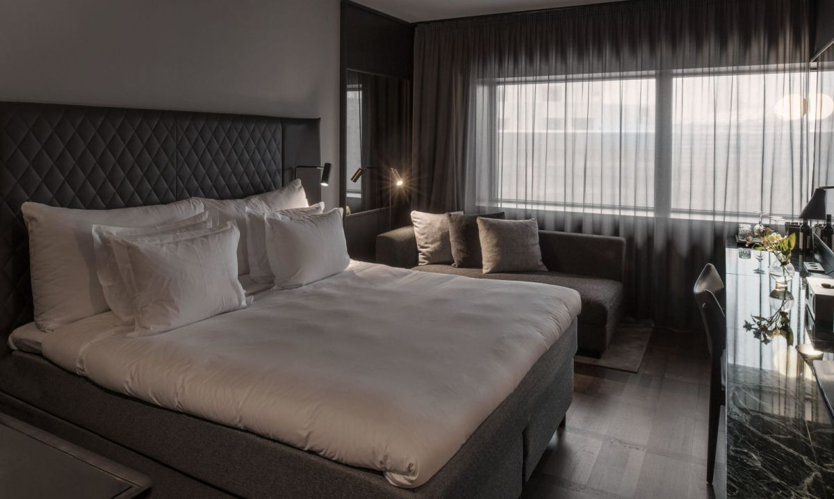 The comfortable rooms are both sleek and serene.